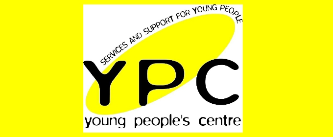 Untold Story Young People's Centre banner yellow