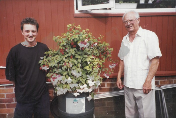Andy and his grandfather